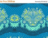 SALE Amy Butler Lark Collection Nanna Chic Cloud Blue Turqouise Green Modern Cotton Fabric by the yard from Shereesalchemy