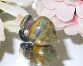Handmade Glass Artisan Lampwork Bottle Vessel Focal Rainbow Sparkle Bottle-Bastet's Beads-