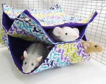 Rat Hammock, honeycomb Hammock,Small Animal Hammock, Hammock, 3 level hammock Rat Bed, Rodents Hammock,Small pet hammock, rat hammock A