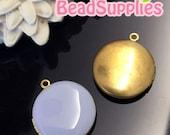 CH-EX-08146LV-   Nickel-free, Color epoxy,  Round locket (S), lavander, 2 pcs