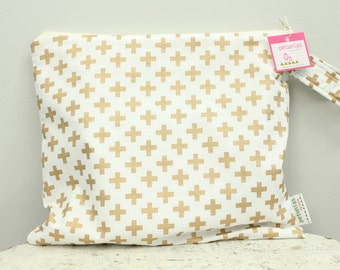Wet Bag wetbag Diaper Bag ICKY Bag gold PETUNIAS gym bag swim cloth diaper accessories zipper shower gift newborn baby child kids summer