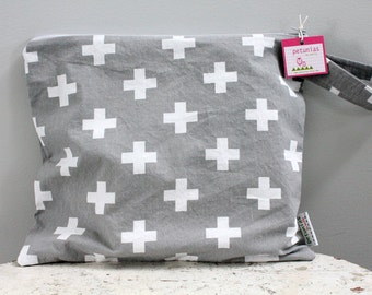 Wet Bag wetbag Diaper Bag ICKY Bag grey PETUNIAS gym bag swim cloth diaper accessories zipper shower gift newborn baby child kids summer