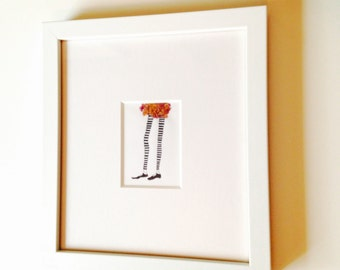 Original mixed media art, set of two, pen and ink, framed art, ready to hang wall decor, interior decor