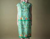 multicolor geometric abstract print MOD dress / dropwaist / m / 256d