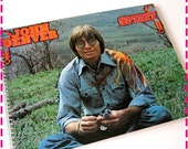 SALE 40% OFF--- JOHN Denver, Spirit Recycled Retro Notebook / Upcycled Record Album Cover Journal - Spiral Bound and Eco Friendly - Vintage