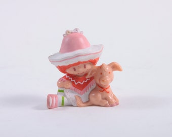Vintage Strawberry Shortcake - Cafe Ole With Burrito - 1980s PVC - Rare ~ Pink Room ~ 160910
