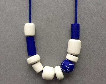 Cobalt blue long necklace