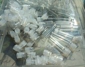 DESTASH, 84 pcs Clear Glass Vials w Stopper, New Mini Glass Vials, Craft Supply Vials, Fragrance