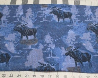 Moose themed travel pillow cover, in blues and grays.  fits MyPillow travel pillow