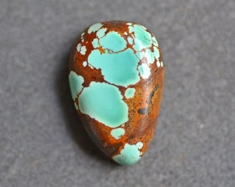Natural Sky Cloud Turquoise Cabochon. Candelaria Mine Turquoise. Nevada Turquoise.