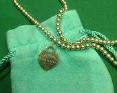 TIFFANY & CO 925 Please Return Heart Pendant Necklace