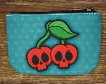 Skull Cherries Coin Purse