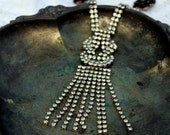 Vintage Rhinestone and Pearl One of a Kind Necklace...Complicated