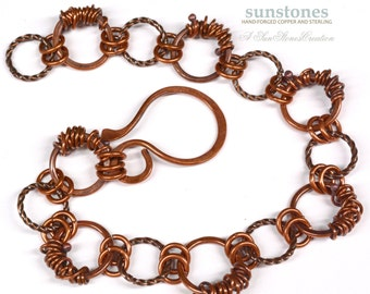 Artisan Copper Link Bracelet B1868