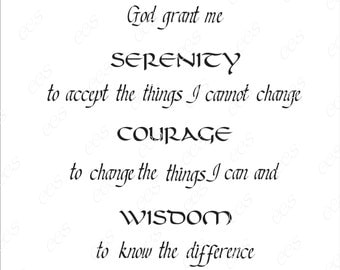 Digital Cut File - Serenity Prayer - Vinyl Cutting File - SVG - DXF - EPS - Silhouette, Make the Cut, Sure Cuts a Lot, Cricut
