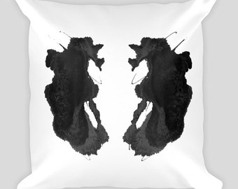 Psychology Gift Rorschach Art Throw Pillow Ink Blot Test 18x18 #26