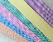"5/8"" Weaving Star Paper~ Pastel Gingham (50 strips)"