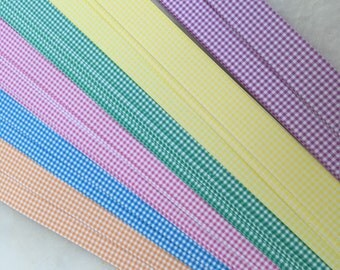 "1/2"" Weaving Star Paper~ Pastel Gingham (50 strips)"