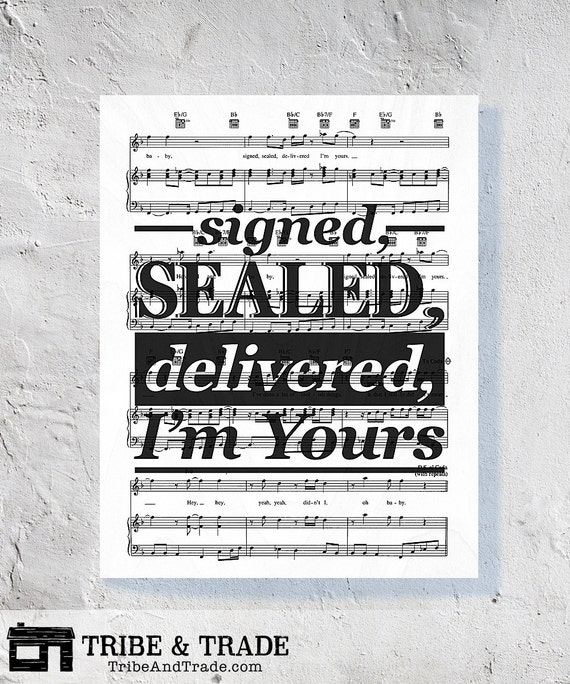 signed sealed delivered sheet music pdf