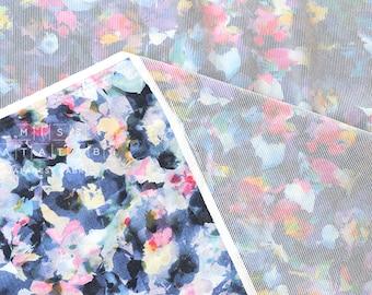 Japanese Fabric digital floral print - flocked lawn - 50cm