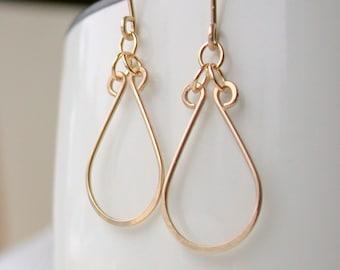 Small Horseshoe Hoop Earrings. Dangle Earring. Drop Earring. Artisan. Jewelry.