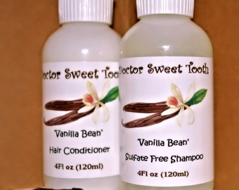 VANILLA BEAN Argan Oil Shampoo & Conditioner Set (Sulfate and Paraben Free)