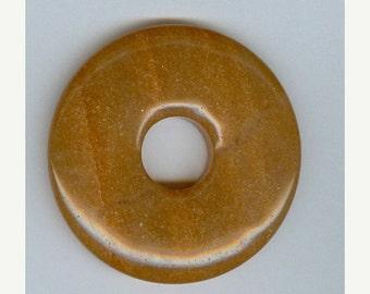 SALE 50mm Red Aventurine PI Donut Pendant 413