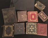 Lot of 10 empty gem type and antique photo albums