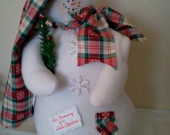 Pattern Sidney White Christmas Snowman
