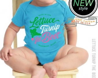 lettuce turnip the beet ® trademark brand OFFICIAL SITE - organic cotton - blue turquoise bodysuit - eco-friendly