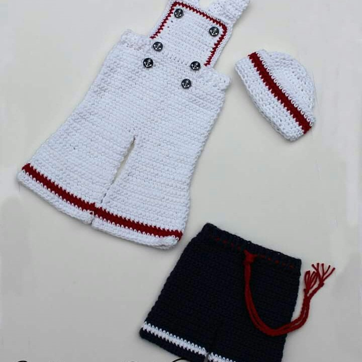 Bib Overall Pattern Crochet Hat Pattern Sailor Hat Baby