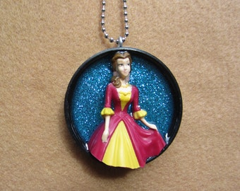 Day BELLE -  Upcycled Doll Pendant