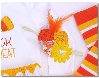 The Boutique Kids Candy Corn Baby girl -----headband----- Trick or Treat Halloween Fall