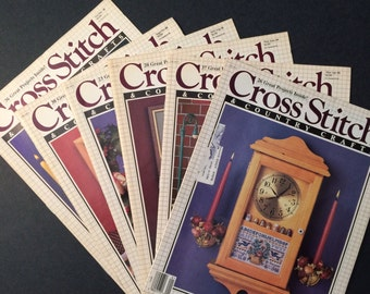 Cross Stitch and Country Crafts magazines 1988 complete year