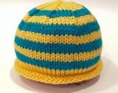 Yellow + Teal Newborn Kni...