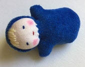 royal blue, Waldorf doll, Pocket doll, germandolls, waldorf baby,  waldorf toy, treat for kids