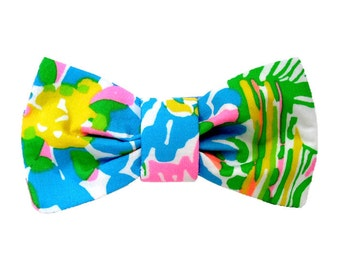 BOW Only: Made from Lilly Pulitzer 2016 HIBISCUS STROLL Fabric