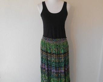Vintage womens clothing skirt  90's    cotton                        gypsy boho hippie