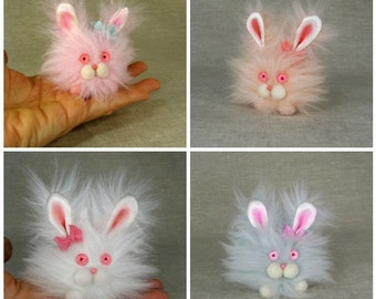 Flora the Fluffy Bunny in Your Color Choice MADE TO ORDER