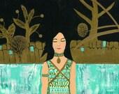 Dreaming Klimt Original Painting/Collage