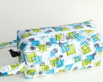Boxy Bag Knitting Project Bag - Doodles