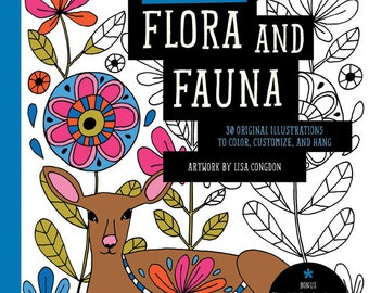 SALE: Flora and Fauna Coloring Book