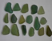 17 pieces of smooth beach sea glass sgl20