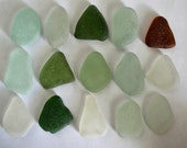 15 pieces of smooth beach sea glass sgl25