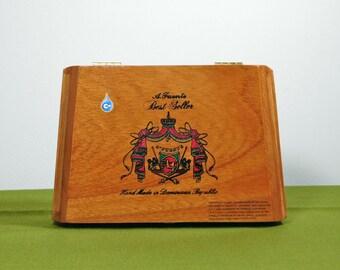 Wooden Arturo Fuente Hinged Cigar Box Craft Supply Dominican Republic