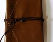 Handmade Leather Journal Retro Blank Diary Rustic Notebook Saddle Brown Eco Friendly Paper