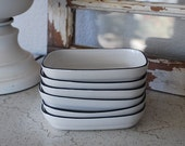 Vintage Pfaltzgraff American Airlines Square Dishes ~ 6