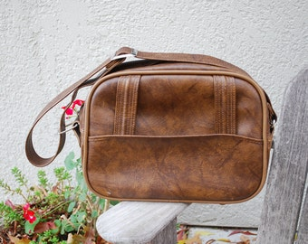 Vintage American Tourister Messenger Carry-On Tote Bag Luggage