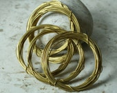 Solid brass wire 20g thick, 10 ft (item ID SBW20GN)