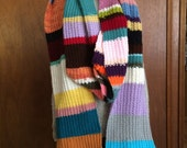 Handknit extra huge and long doctor who inspired scarf 12 feet long